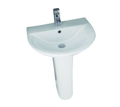 Elite Bathroom Basin & Pedestal 550mm, 1 Tap Hole - F60R